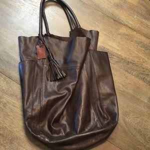 Gap leather bag.